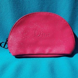 Dior Hot Pink Small Makeup Toiletries Bag NWOT